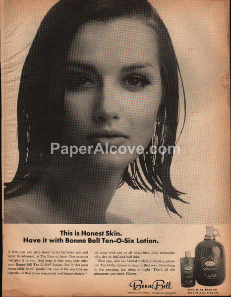 Bonne Bell Ten-O-Six Lotion Rocky River Ohio 1965 vintage print ad