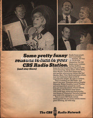 CBS Radio Network Carol Channing Lucille Ball 1965 vintage print ad