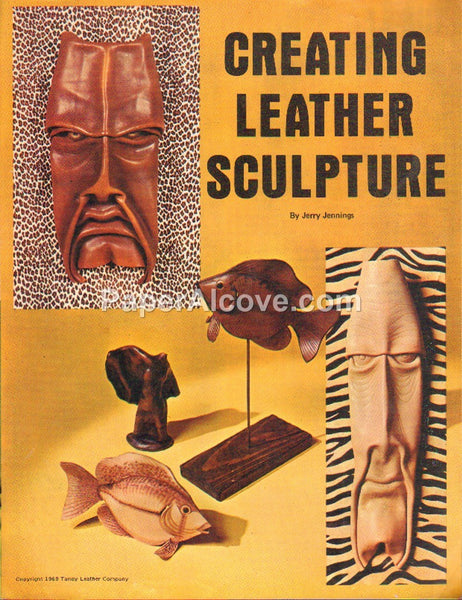 Creating Leather Sculpture 1969 Tandy crafting book Jerry Jennings