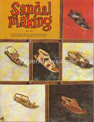 Sandal Making Leather Shoes 1960s Tandy crafting book