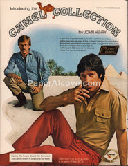 Camel Collection by John Henry clothing Cigarettes 1980 vintage original old magazine ad tobacco fashion