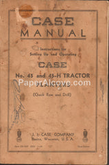 Case Manual No. 45 45-H Tractor Planters 1949 original vintage farm manual agriculture operating instructions