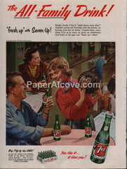 7-Up 7Up soda bowling wood case 1953 vintage original old magazine ad