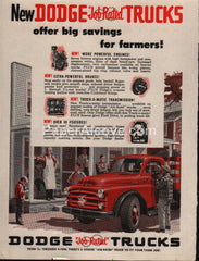 Dodge Job-Rated Trucks 1953 vintage original old magazine ad farmers