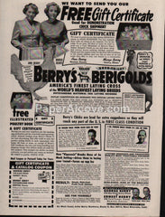 Berry's Berigolds poultry chickens 1953 vintage original old magazine ad