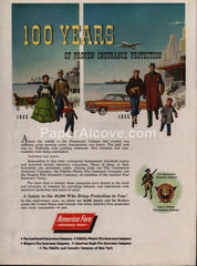 American Fore Insurance Group 1953 vintage original old magazine ad