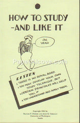 How to Study - And Like It 1938 vintage original old booklet