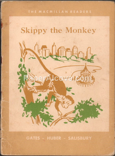 Skippy the Monkey vintage 1952 old childrens book MacMillan Readers Illustrated by Charles Payzant