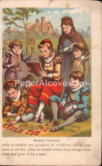 Margery Teaching Goody Two Shoes vintage original antique print childrens students teacher illustration