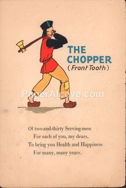 The Chopper Front Tooth vintage original antique print children dental health