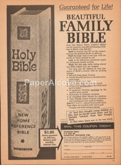 Dominion Bible Beautiful Family Bible 1968 vintage original old magazine ad Nashville