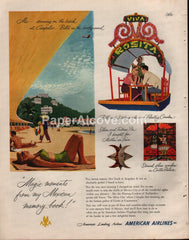 American Airlines Mexico Travel 1951 print ad
