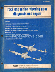 Ford Rack and Pinion Steering Gear Diagnosis and Repair 1976 original vintage car manual CTP-1976-4