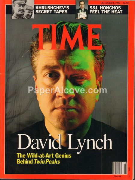 Time October 1 1990 old vintage magazine David Lynch cover Twin Peaks