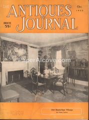 Antiques Journal October 1955 old vintage magazine Old Sturbridge Village American Shelf Clock Labels