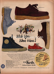 Keds Shoes 1954 vintage original old magazine ad United States Rubber Company