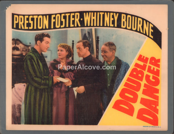 Double Danger 1938 original old vintage movie lobby card Preston Foster Whitney Bourne