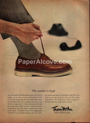 Thom McAn 6548 shoes 1954 vintage original old magazine ad