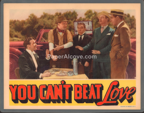 You Can't Beat Love 1937 original old vintage movie lobby card