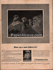 E.R. Squibb & Sons 1942 vintage original old magazine ad Mount Rushmore