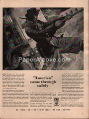 Insurance Company of North America 1942 vintage original old magazine ad