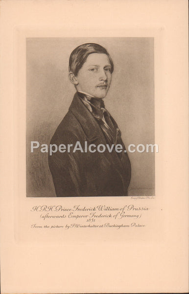 H.R.H. Prince Frederick William of Prussia old vintage print F. Winterhalter Emery Walker Buckingham Palace England