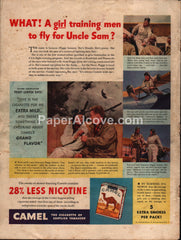 Camel Cigarettes U.S. Army Air Force Navy 1942 vintage original old magazine ad WWII
