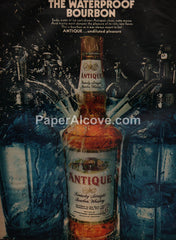 Antique Bourbon Whiskey waterproof 1968 vintage original old magazine ad