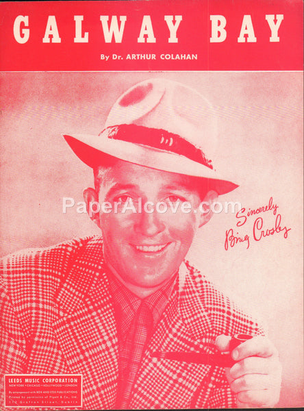 Galway Bay 1947 vintage old sheet music Bing Crosby cover Dr. Arthur Colahan