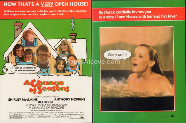 Change of Seasons movie 1980 vintage original old 4 page magazine ad Shirley MacLaine Anthony Hopkins Bo Derek A