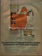 Calvert Whiskey Sour Mix cocktail shaker 1968 vintage original old magazine ad