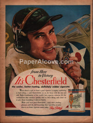 Chesterfield Cigarettes WWII Army Air Force 1942 print ad