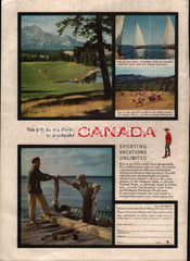Canadian Government Travel Bureau 1955 Canada vintage original old magazine ad