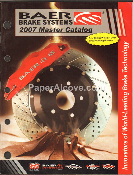 Baer Brake Systems 2007 vintage original Master Catalog automotive