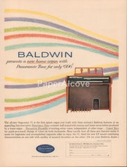 Baldwin Orga-Sonic 71 spinet home organ 1962 vintage original old magazine ad Cincinnati