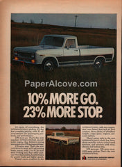 International Harvester 1969 pickup truck vintage original old magazine ad