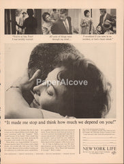 New York Life insurance 1962 vintage original old magazine ad