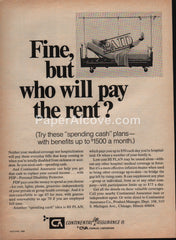 Continental Assurance Co. 1969 vintage original old magazine ad