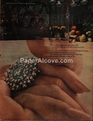 DeBeers Consolidated Mines diamond ring watch 1969 vintage original old magazine ad