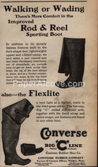 Converse Rod & Reel Sporting Boots fishing 1929 vintage print ad waders