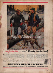 Brown's Beach Jackets pointer hunting 1938 vintage print ad