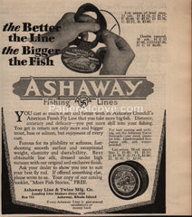 Ashaway Crandall's American Finish Fly Fishing Line 1930 vintage print ad