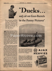 Ajax Heavies Shotgun Shells United States Cartridge Co. 1930 vintage print ad