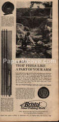 Bristol Steel Fishing Rods Rangeley Fly Rod 1930 vintage print ad