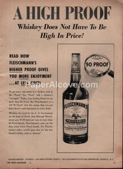Fleischmann's Whisky A High Proof 1954 vintage print ad