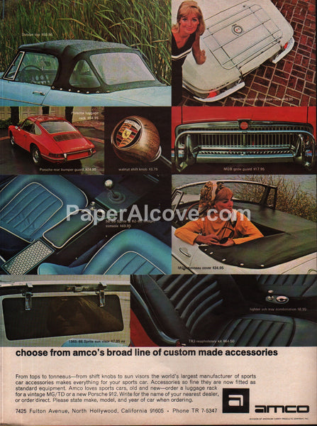 Amco Car Accessories 1966 vintage original old magazine ad