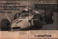 Goodyear Tires Grand Prix Racing 1966 vintage original old magazine ad