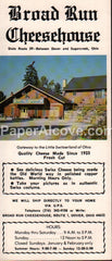 Broad Run Cheesehouse Dover Ohio Amish vintage original old travel brochure