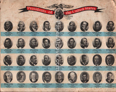 Presidents of the United States 1970s vintage original old mini-poster