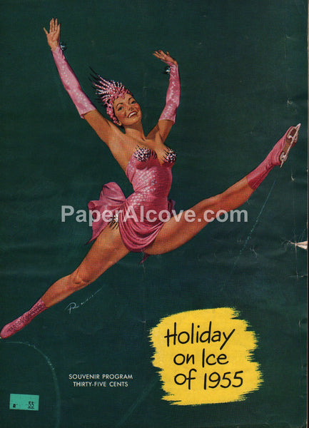 Holiday on Ice of 1955 10th Edition vintage souvenir program ice skating Ruskin Russ Williams good girl pin up art